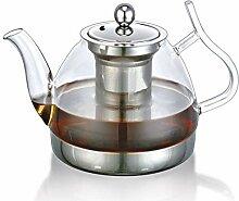 POTOLL Teekanne mit Sieb Glas Tee-Set