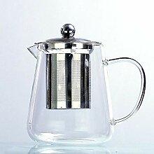 POTOLL Teekanne mit Sieb Glas Teekanne Seite