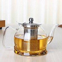 POTOLL Teekanne mit Sieb Hitzebeständiges Glas