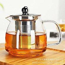 POTOLL Teekanne mit Sieb Hoch Borosilikat