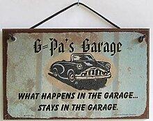 PotteLove G-Pa's Garage 12,7 x 20,3 cm Schild