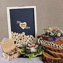 PotteLove Personalised Drop Box Wooden Wedding