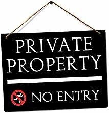 PotteLove Private No Entry Kunst-Dekoration,