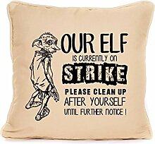 Potter Dobby, ELFEN on strike, Home Décor Geschenkidee Geschenk, beige, 45 x 45 cm