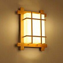 Pouluuo Massivholz Wand Lampe japanische Wandlampe