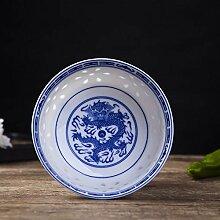 POUPDM Küchenschüssel 4,5 Zoll Reisschale blau
