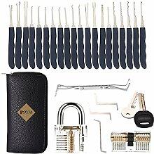 POVIA Lockpicking Set - 24 Teiliges Dietrich Set