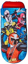 Power Rangers Junior-ReadyBed – Kinder-Schlafsack und Luftbett in einem, Polyester - Cotton, blau, 150 x 62 x 20 cm