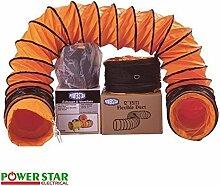 Power Star - Flexibler Industrieller Portabler Ventilator Abluftschlauch Hochleistung - 25cm