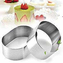 PowerBH 12 STÜCKE Home Küche Kuchen Oval