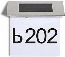 PowerBH 4 LED Solar Türleuchte Hausnummer Adresse