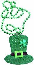 PowerBH Halskette Grün Glück Gras Runde Perlen