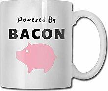 Powered-By-Bacon-Funny-Pig? Lustige Kaffeetasse Oz