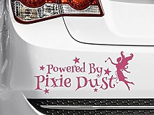POWERED BY Pixie Dust Pink Car Bumper Aufkleber,