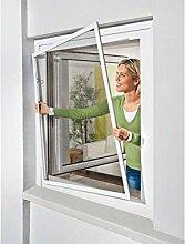 POWERFIX Alu Insektenschutz Fenster, 130 x 150 cm Weiß