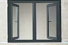 Powerfix® Profi+ Alu Insektenschutz Fenster SLIM 1,30 x 1,50m Anthrazi