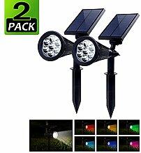 PowerKing 2pcs Solar Gartenlampe LED, Solarleuchte