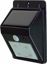PowerPlus Katze Solar PIR Sensor Außenleuchte, Acryl, schwarz