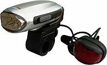 PowerPlus Swallow Dynamo Fahrrad Licht Taschenlampe, Stahl, grau