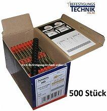 Powers - 500 Beton Nägel 15mm magaziniert für