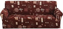Powlance bedruckt Sofa Cover, Reinigungstuch Art Spandex Stretch Bettüberwurf Double-seat B