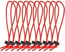POWRIG Elastische Kabelbinder, 15,2 cm,