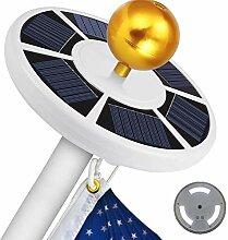 Powstro 111-LEDs Solar-Fahnenmast Lichter IP55
