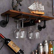 POXL WeinglasHalter Wand Weinglas Halter Schwarz