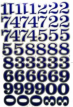 PP Aufkleber 1 Blatt blau Alphabet Buchstaben