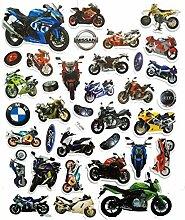 PP Aufkleber 1 Blatt Chopper Big Bike Motorrad