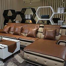 PP&DD Sofabezug,Vier Jahreszeiten Gesteppter Leder
