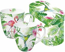 PPD 2 Porzellan Becher Tasse 'Tropical'