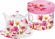 PPD Aquarell Poppies & Daisies Tea-for-One-Set,