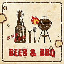 PPD Beer & BBQ Servietten, 20 Stück,