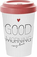 PPD Good Morning Love Bamboo Coffee-To-Go Becher,