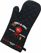 PPD Grill & Chill Black Grillhandschuh, Grill Handschuh, Baumwolle, Polyester, Schwarz / Bunt, 1542052