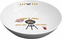 PPD Grill & Chill Salatschüssel, Salat Schüssel, Porzellan, Weiß / Bunt, 24 cm, 602773