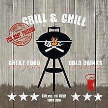 PPD Grill & Chill Wood Servietten, 20 Stück,