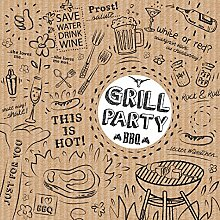 PPD Grill & Party Brown Servietten, 20 Stück,