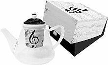 PPD I Love Music Teekanne mit Sieb und Deckel,