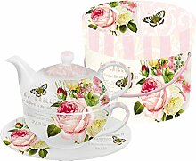 PPD Jardin Rose Tea-for-One-Set, Tee Kanne, Tasse