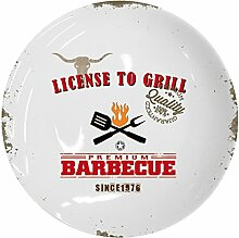 PPD License To Grill Speiseteller, Teller,
