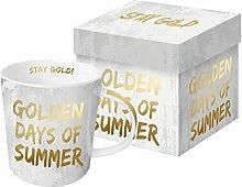 PPD Porzellan Henkelbecher Golden Days of Summer