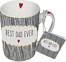 PPD Porzellan Henkelbecher Tasse 0,25L (Best Dad)