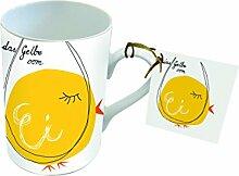 PPD Porzellan Henkelbecher Tasse 0,25L (Das gelbe