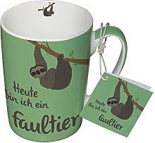 PPD Porzellan Henkelbecher Tasse 0,25L (Faultier)