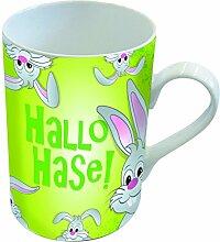PPD Porzellan Henkelbecher Tasse 0,25L (Hallo Hase)