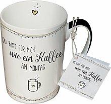 PPD Porzellan Henkelbecher Tasse 0,25L (Kaffee am