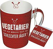 PPD Porzellan Henkelbecher Tasse 0,25L (Vegetarier)