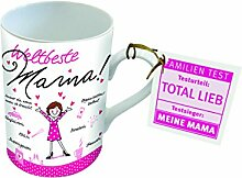 PPD Porzellan Henkelbecher Tasse Weltbeste Mama